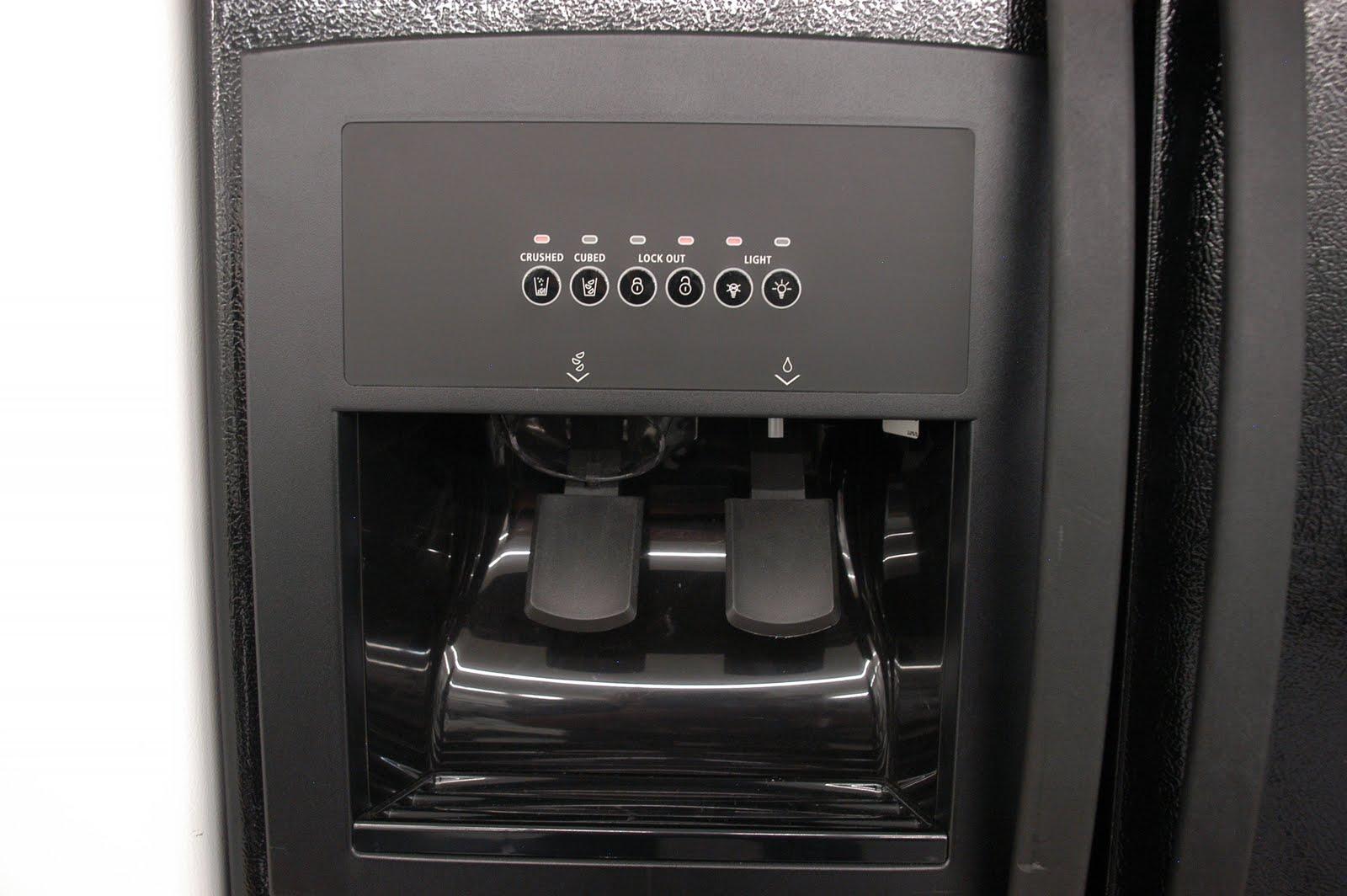 Whirlpool white ice side by side - Whirlpool Black Side By Side Refrigerator Model Ed5kvexvb