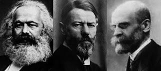 Esses são os três autores clássicos da Sociologia Karl Marx, Max Weber e Émile Durkheim