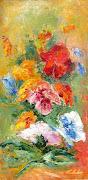Fiori e coloreolio e acrilico a spatola su tavoladim. (solo fiori ma dal cuore olio spatola su tavola cm)