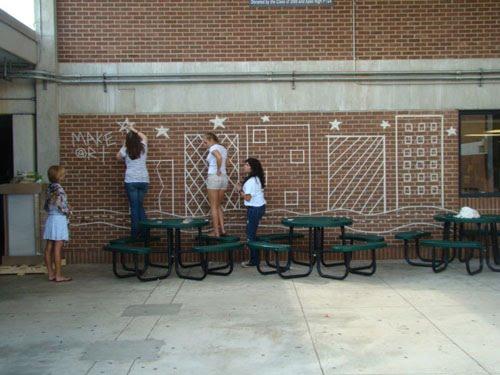 art of apex high school masking tape murals 2. Black Bedroom Furniture Sets. Home Design Ideas