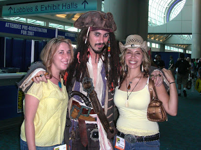 Captain Jack Sparrow with Brianne and Heather