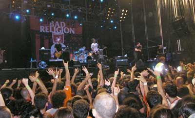 bad religion en el concierto de metrorock 2007, madrid