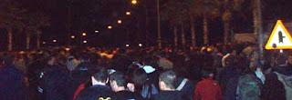 avalancha en el concierto de heroes del silencio en cheste, valencia