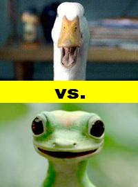 The Aflac Duck vs. the Geico Gecko