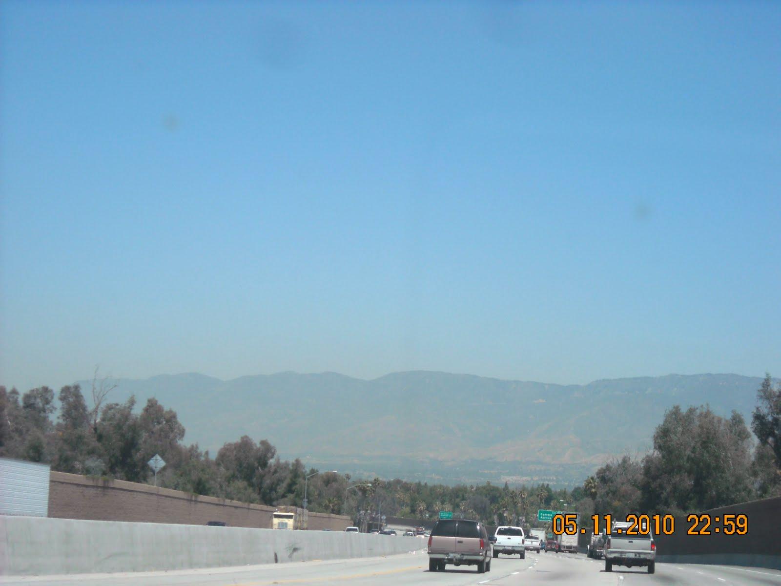 As we approach San Bernadino we drive
