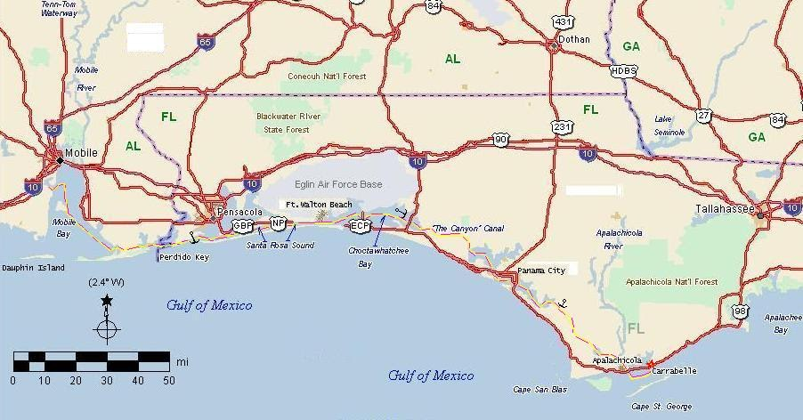 Florida Panhandle Map.Florida Panhandle Map Of Bays Www Picsbud Com