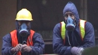 Asbestos workers at Roberts Street today