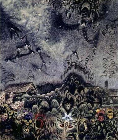 Charles Burchfield, The Sphinx and the Milky Way (1946)