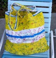 crochet plastic bag