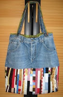 Jeans-Streifen-Tasche