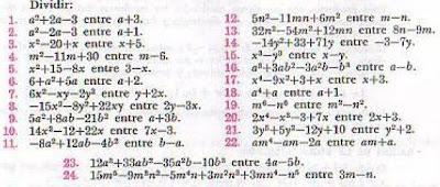 Matemáticas Secundaria Melchor Ocampo: División de Polinomios