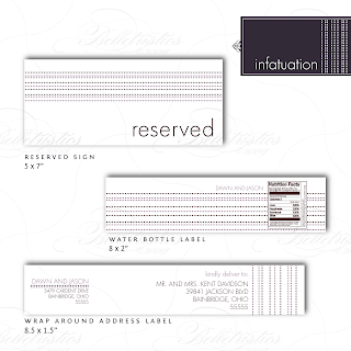 modern dotted stripe water label reserved sign