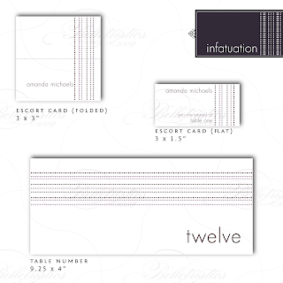 modern dotted stripe table number escort card