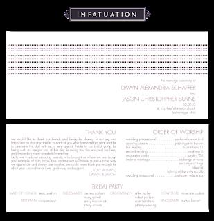 modern dotted stripe wedding ceremony program