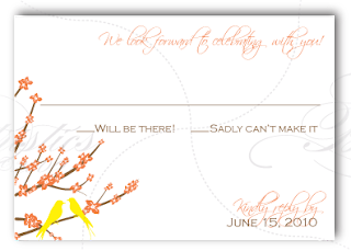 custom wedding invitation rsvp card design