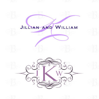 wedding monogram purple