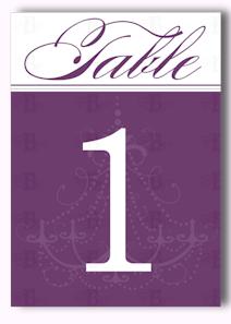 table number design