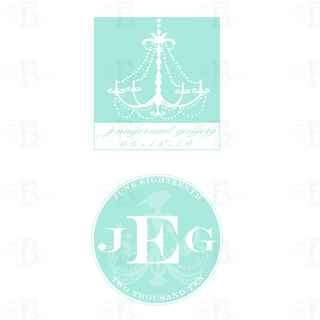 wedding monogram design chandelier