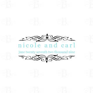 tiffany blue wedding monogram logo design