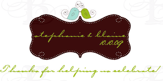love bird wedding monogram favor tag design