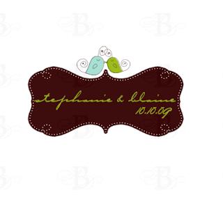 love bird wedding monogram logo design