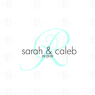 modern wedding monogram logo design