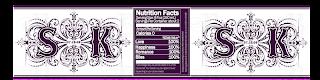 monogrammed water bottle label
