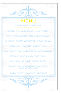 flourish monogram menu design logo