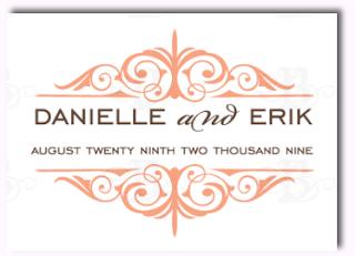 decorative wedding monogram logo design