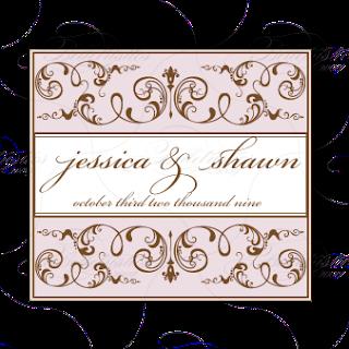 pink brown wedding logo monogram design