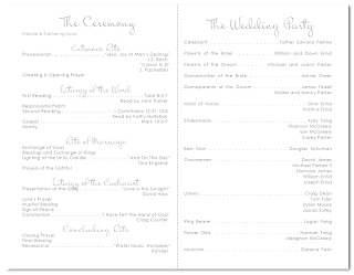 custom love bird branch wedding ceremony program design