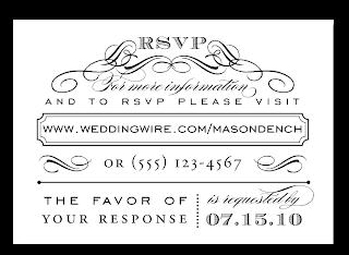 custom typography wedding invitation rsvp design