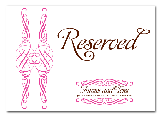 the gallery for reserved table signs template. Black Bedroom Furniture Sets. Home Design Ideas