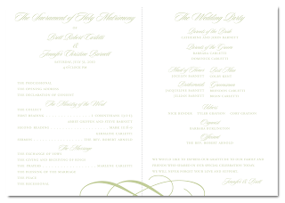custom flourish ceremony program design