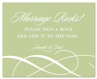 custom flourish wedding sign design