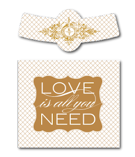 custom beer bottle label love is all you need