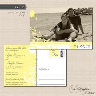 printable save the date card digital PDF