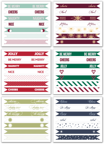 printable diy holiday christmas cupcake flags flair