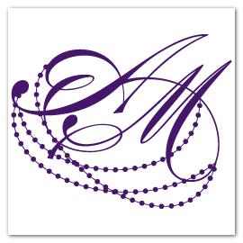 custom initial monogram design