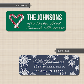 printable diy holiday christmas return address labels