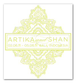 custom paisley persian wedding monogram design