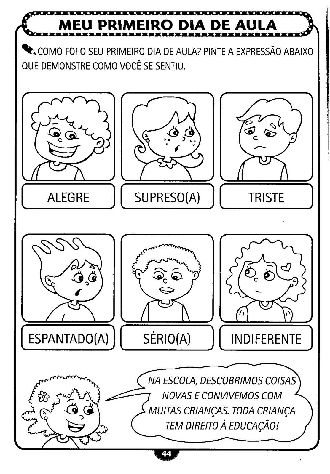 Atividades Para O Primeiro Dia De Aula Alfabetiza    O