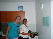 Making empanadas with Sister Rodriquez
