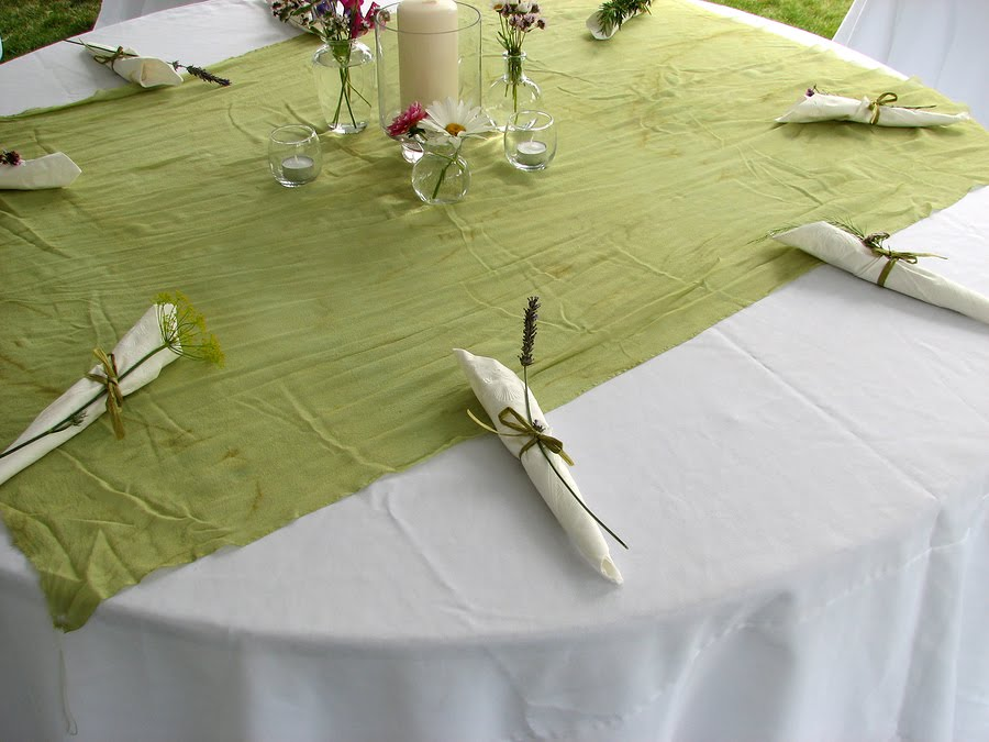 Green Wedding Simple Table Decorations