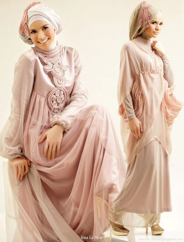 Baby-Doll Loose Modern Islamic Wedding Dress