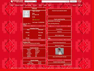 Red Tiny Myspace Layouts