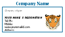 Animal Business card templates