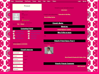 Pink Default Myspace Layouts