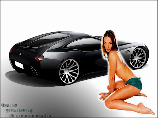 cars and sexy girls Bugatti Streamliner Michelle Behennah