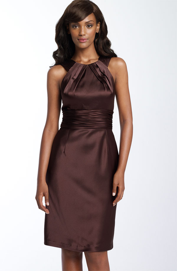 Brown bridesmaid dresses fall wedding pinterest for Brown dresses for wedding